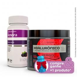 Kit Colágeno Verisol + Ácido Hialurônico 120g + Amora Miura - Compre & Ganhe + 1 Produto - Inove Nutrition