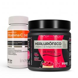 Kit Colágeno Verisol + Ácido Hialurônico 120g + Vitamina C 1g - Inove Nutrition