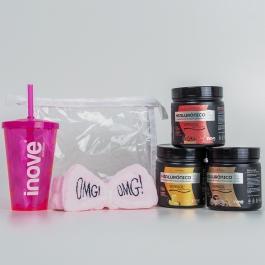 Kit Colágeno Verisol + Ácido Hialurônico - 3 Potes c/ 120g cada Sabores Café - Cranberry - Abacaxi - Ganhe 3 Brindes Exclusivos Inove Nutrition