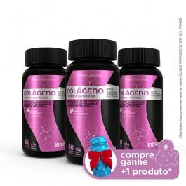 Kit Colágeno + vitaminas e minerais Inove Nutrition - 3 potes - Compre & Ganhe + 1 Produto - Inove Nutrition