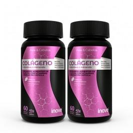 Kit Colágeno + Vitaminas e minerais Inove Nutrition, ideal para pele e cabelos - 2 potes c/ 60 cápsulas cada Inove Nutrition