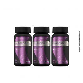 Kit Colágeno + vitaminas e minerais Inove Nutrition, ideal para pele e cabelos - 3 potes c/ 60 cápsulas cada + Brinde porta cápsulas
