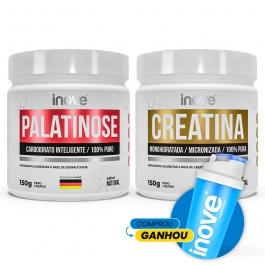 Kit Energia e Performance Ganhe Coqueteleira: 01 Creatina 150g + 01 Palatinose 150g Inove Nutrition