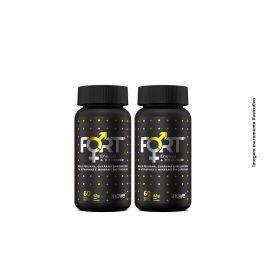 Kit Fort Energia & Vitalidade Inove Nutrition 02 potes  C/ 60 cápsulas softgel  + Brinde Porta cápsulas +  Coqueteleira 600 ML.