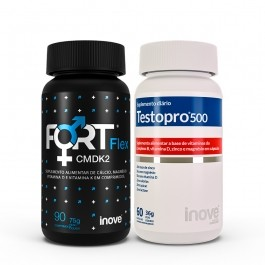 Kit Fort Flex CMDK2 - 90 caps + Testopro 500 - 60 caps - Inove Nutrition