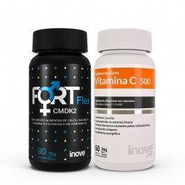 Kit 01 Fort Flex CMDK2 - 90 caps + 01 Vitamina C 500 - 60 caps - Inove Nutrition