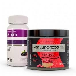 Kit Colágeno Verisol + Ácido Hialurônico 120g + Amora Miura - Inove Nutrition