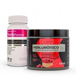 Kit Colágeno Verisol + Ácido Hialurônico 120g + Testofemme - Inove Nutrition