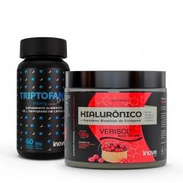 Kit Colágeno Verisol + Ácido Hialurônico 120g + Triptofano Dreams 860 mg - Inove Nutrition