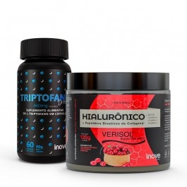 Kit Hialurônico + Colágeno Verisol 120 g + Triptofano Dreams 860 mg - Inove Nutrition