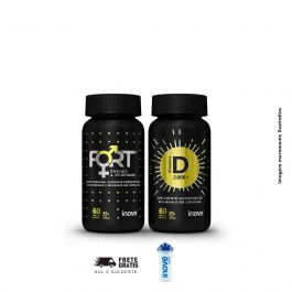 Kit Imunidade e vitalidade Vitamina D + Fort + Brinde Coqueteleira