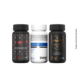 Kit Imunne Day + Omega 3 1000mg + Cálcio Vit D3 Inove Nutrition com 60 caps cada