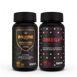 Kit Imunne Day Própolis com Vitaminas e Mineral Inove Nutrition + Omega 3 1000mg Inove Nutrition