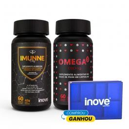 Kit Imunne Day Própolis com Vitaminas e Mineral + Omega 3 1000mg - Ganhe 1 Porta Cápsulas Inove Nutrition