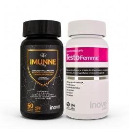 Kit Imunne Day Própolis com Vitaminas e Mineral + Testofemme Inove Nutrition 60 caps