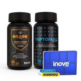 Kit Imunne Day Própolis com Vitaminas e Mineral + Triptofano Dreams 860 mg - Ganhe 1 Porta Cápsulas Inove Nutrition