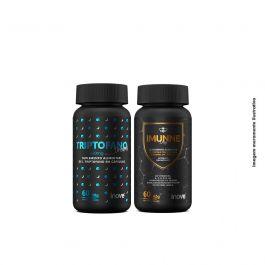 Kit Imunne Day Própolis com Vitaminas e Mineral + Triptofano Dreams 860 mg Inove Nutrition + Brinde Camiseta Inove Nutrition + Coqueteleira