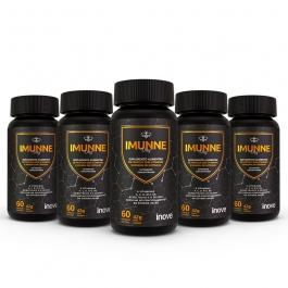 Kit Imunne Day Própolis + Vitaminas e Minerais - 5 potes - Ganhe 1 Porta Cápsulas Inove Nutrition®