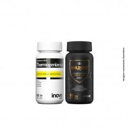 Kit Imunne Day (Própolis + Vitaminas e Minerais) + Thermogenize 420 + Brinde 01 Coqueteleira Inove Nutrition
