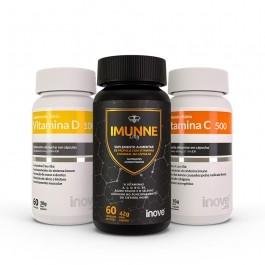 Kit 01 Imunne Day (Própolis + Vitaminas e Minerais + 01 Vitamina C 500 + 01 Vitamina D 1000 ui - c/ 60 caps. cada - Inove Nutrition
