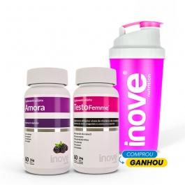 Kit Menopausa: Amora Miura + Testofemme - Ganhe 1 Coqueteleira Inove Nutrition