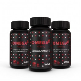 Kit Omega 3 1000mg  Inove Nutrition 03 potes C/ 60 cápsulas softgel - Inove Nutrition