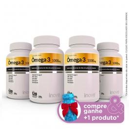 Kit Omega 3 120 cápsulas 04 potes - Compre & Ganhe + 1 Produto - Inove Nutrition