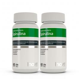 Kit Spirulina Super Food - 2 potes c/ 60 cápsulas cada - Inove Nutrition