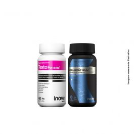 Kit Testofemme + Ácido Hialurônico 30 caps + Brinde