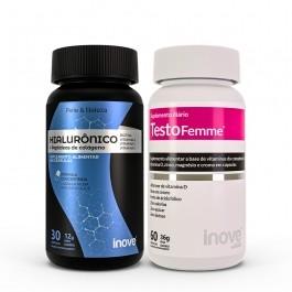 Kit Testofemme + Ácido Hialurônico 30 caps Inove Nutrition