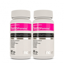 Kit Testofemme® Fórmula Feminina - 2 potes - Inove Nutrition®