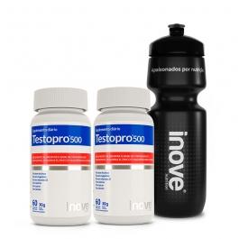 Kit Testopro® 500 Fórmula Masculina 2 potes c/ 60 cápsulas cada - GANHE 1 Squeeze Inove Nutrition®