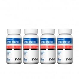 Kit Testopro 500 Inove Nutrition 04 Potes c/ 60 cápsulas cada + Brinde 01 Camiseta Inove Nutrition