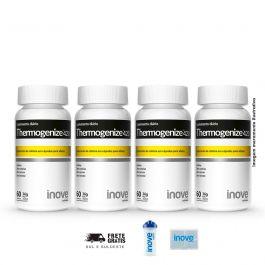 Kit Thermogenize 420 Inove Nutrition 04 Potes  60 caps  + Brinde Coqueteleira + Porta Cáps