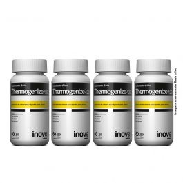 Kit 4x Thermogenize 420 - 60 caps. cada - Brinde Coqueteleira + Porta Cáps - Inove Nutrition