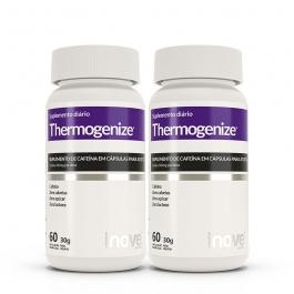 Kit Thermogenize® Cafeína 200mg  Inove Nutrition®  2 potes c/ 60 cápsulas cada