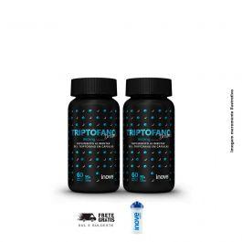 Kit Triptofano Dreams 860 mg Inove Nutrition 02 potes  C/ 60 cápsulas softgel  + Brinde coqueteleira
