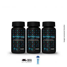 Kit Triptofano Dreams 860 mg Inove Nutrition 03 potes  C/ 60 cápsulas softgel + Brinde Coqueteleira Inove Nutrition.
