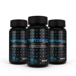 Kit Triptofano Dreams 860 mg Inove Nutrition 03 potes  C/ 60 cápsulas softgel Inove Nutrition.