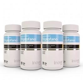 Kit Triptofano Inove Nutrition 04 Potes c/ 30 cápsulas - Inove Nutrition
