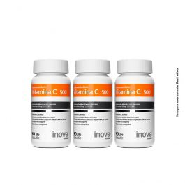 Kit Vitamina C 500 Inove Nutrition 03 potes 60 caps