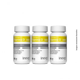 Kit Vitamina D 1000 Inove Nutrition 03 potes 60 caps