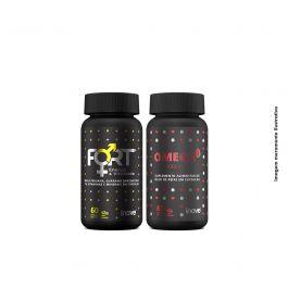 Kit vitalidade e coração,  Ômega 3 + Fort + Brinde Porta cápsulas Inove Nutrition