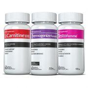 Combo Definição corporal c/ 01 L-Carnitina + 01 Thermogenize®Femme + 01 Testofemme® c/ 60 cápsulas cada