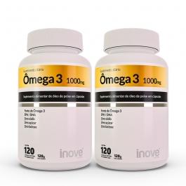 Kit Ômega 3 1000mg dose EPA/DHA Inove Nutrition® 2 potes c/ 120 cápsulas cada