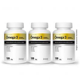 Omega 3 120 cápsulas 03 potes Inove Nutrition