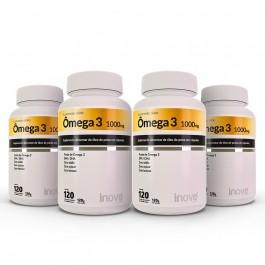 Omega 3 120 cápsulas 04 potes Inove Nutrition