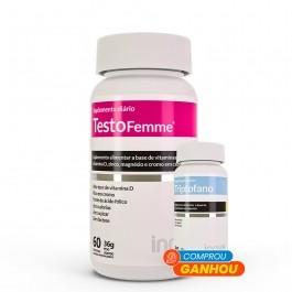 Testofemme 60 caps - Ganhe 01 Triptofano 190mg 30 caps - Inove Nutrition