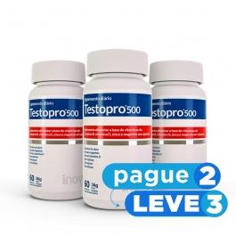 Testopro® 500 Fórmula Masculina – Inove Nutrition® – 60 cápsulas PAGUE 2 LEVE 3