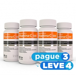 Vitamina C - 60 cápsulas - Inove Nutrition® PAGUE 3 LEVE 4